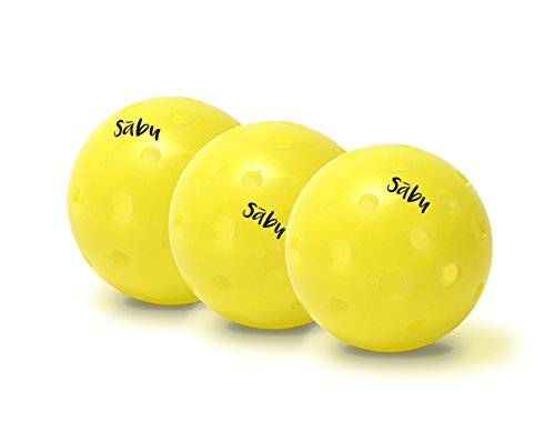 Pickleball Balls - PickelBalls from Sabu Sports for Outdoor Use: 40 hole Yellow Balls for Recreational or Competitive Play