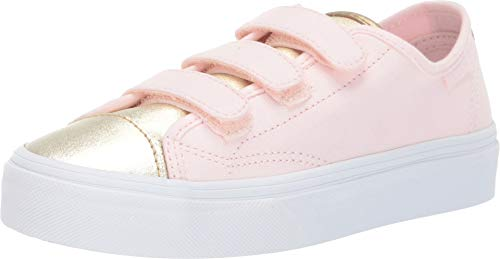 Vans Kids Girl's Style 23 V (Little Kid/Big Kid) (Metallic Toe) Heavenly Pink/Gold 3 M US Little -