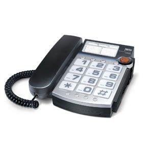 jWIN JTP390BLK Big Button Corded Speakerphone with 13 Number Memory (Black)