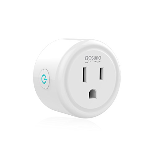 Mini Smart Plug Outlet Works with Amazon Alexa Google Assistant IFTTT, No Hub Required, ETL and FCC Listed Only 2.4GHz Wifi Enabled Remote Control Smart Socket by Gosund