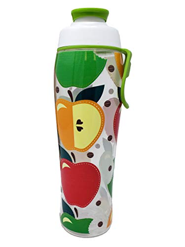 - 50 Strong Teacher Water Bottle - 24 oz. BPA Free for Teachers - Give Bottles As Thank You Gifts - Show Appreciation for Teachers - Easy Carry Loop - Made in USA (Apples, 30 oz.)