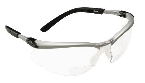 3M BX Reader Protective Eyewear, 11376-00000-20, Clear Lens, Silver Frame, +2.5 Diopter