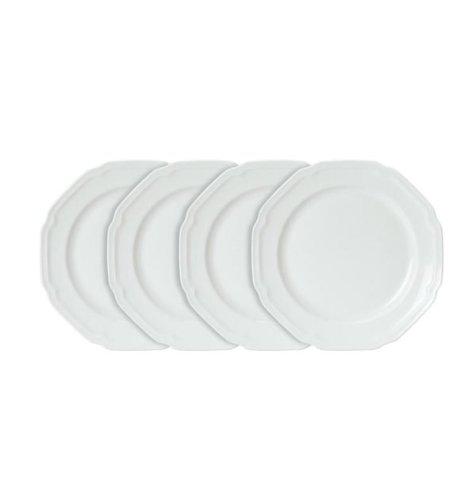Mikasa Antique White Dinner Plates, Set of 4 - Whi ()