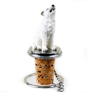 Wolf Bottle Stopper (White)