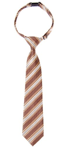 Tie Pre Colors Brown and Grey Boy's tied Pattern Woven Various Stripe Preppy Microfiber nqg00U