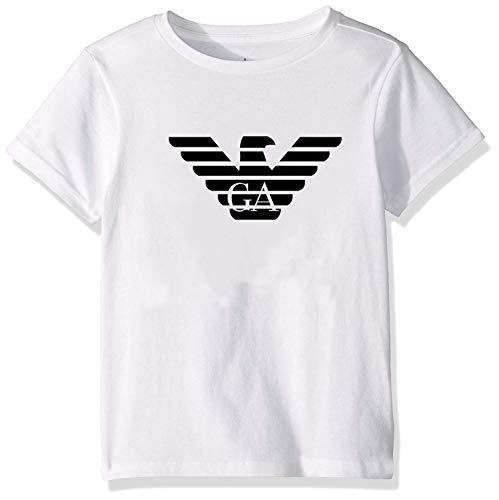 yus-Emporio-Armanis-ert Replica Unisex Toddler Kids Boys/Girls T-Shirt White