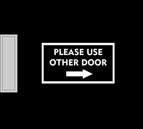 JS Artworks Please use Other Door Right Arrow Vinyl Decal Sticker Business Sign Store Door