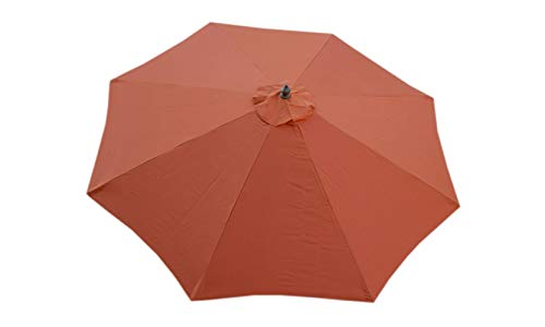 Formosa Covers Replacement Umbrella Canopy for 9ft 8 Ribs Terra Cotta Canopy Only