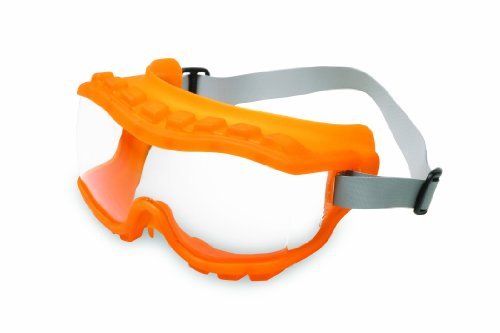 Uvex S3820 Strategy Safety Goggles, Hot Orange Body, Clear Uvextra Anti-Fog Lens, Neoprene - Hot Goggles