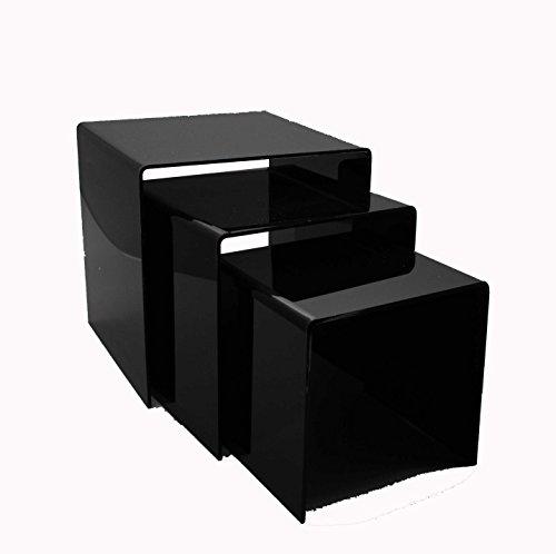Fixture Displays 5''6''7''Black Acrylic Display Risers - 1/8'' Thick 20005 by FixtureDisplays