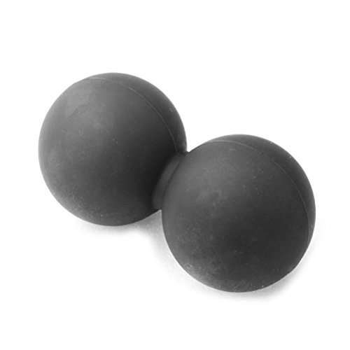 WINOMO Massaggio Peanut Ball Self-yoga Utilizzando il Trigger Point Soulagement du stress musculaire par version myofastiale (Nero)