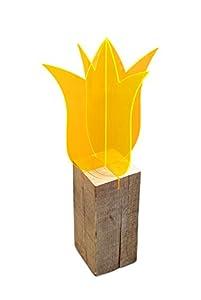 Lichtzauber 3D-Tulpe, 12 cm, stehend, orange mit Sockel