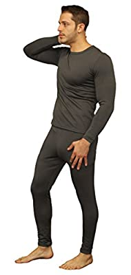 Moet Fashion Men's Ultra Soft Thermal Underwear Long Johns Set With Fleece Lined (Small, Grey)