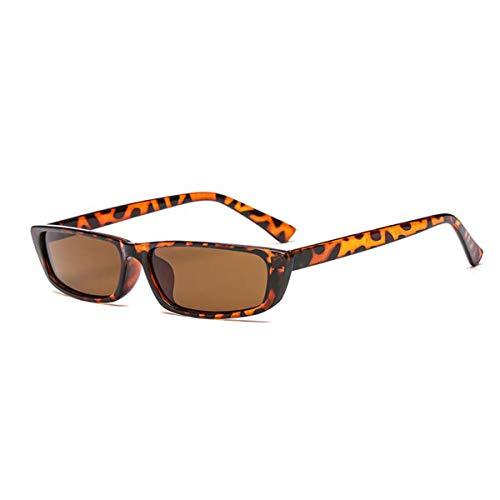 Vintage Rectangle Small Frame Sunglasses Fashion Designer Square Shades for Women (Women Sunglasses For Rectangle)