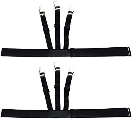 FiedFikt - 1 par de Soportes elásticos para Camisas de Hombre, para Tirantes de cinturón, Sujetador de Bloqueo, Pinzas de Bloqueo para Camisa FiedFiktMen: Amazon.es: Hogar