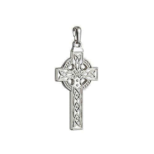 White Gold Large Celtic Cross - 3