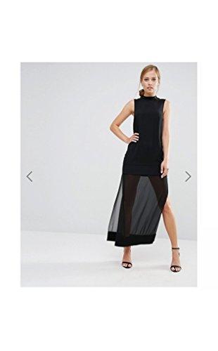 Keepsake Northern Lights Beaded Maxi Dress in Black (Small)