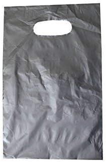 PGV Tragetaschen LDPE Silber 20 x 30 cm (1000 Stück)