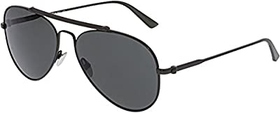 Calvin Klein CK8032S-015 Black Aviator Sunglasses