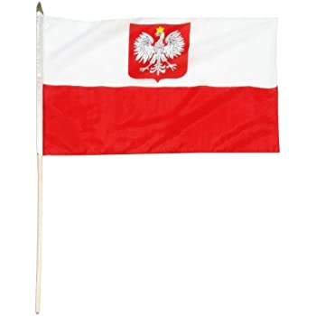US Flag Store Poland State and Civil Ensign Flag, 12 by 18-Inch