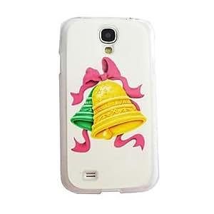 Zaki- New Christmas Small Bell Pattern Plastic Hard Case for Samsung S4 I9500
