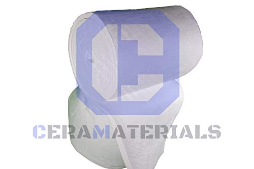 Ceramic Fiber Blanket 8#, 2300F 1/2''x24''x50' for Thermal Insulation of Stoves,Pizza Ovens, Furnaces, Kilns & More! by CeraMaterials (Image #2)