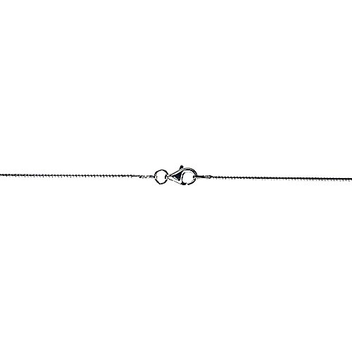 Sterling Silver Hard Wire Round Omega Neck 1mm Choker Nickel Free Italy, 16 inch ()
