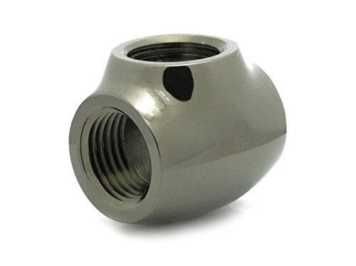 "XSPC G1/4"" T Fitting, Black Chrome"
