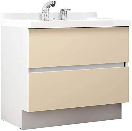 イナックス(INAX) 洗面化粧台 J1プラスシリーズ 幅90cm フルスライドタイプ シングルレバーシャワー水栓 J1FHT905SYNYL2H 寒冷地用 シカモアベージュ(YL2H)