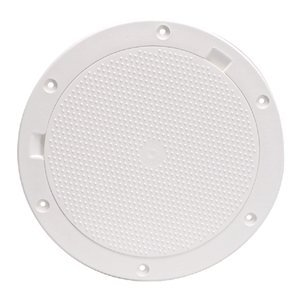 BECKSON MARINE Pry-Out 8'' Deck (Pry Out White Deck Plate)
