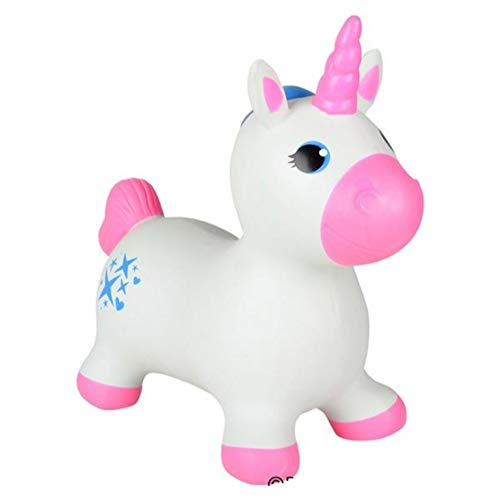 Inflatable Bouncing Unicorn – 22 inches Animal Riding Bouncy Hoppers for Girls – Ride On Bouncy Animal Play Toys, Inflatable Hopper for Kids, Toddlers, Boys or Girls by Kicko