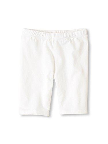 Vivian's Fashions Legging Shorts - Girls, Biker Length, Cotton (White, Medium) by Vivian's Fashions
