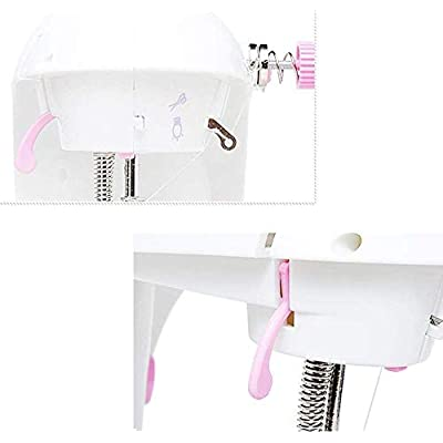 Portable Sewing Machine,Sewing machine mini portable electric manual household heavy duty maintenance local joystick, limited to a variety of fabrics Portable Sewing Machine (Color : Pink): Home Improvement