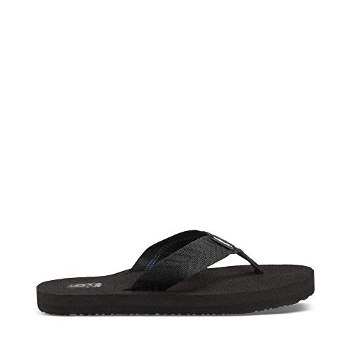Teva Women's Mush II Flip Flop,Fronds Black,12 M US