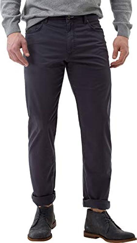 BRAX męskie spodnie Cooper Fancy Marathon płaska tkanina, street (wiosna 2019), 40 W / 30 L: Odzież