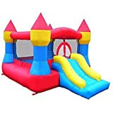 Castle Inflatable Bounce House w/ Slide (12' x 9') Blower Included