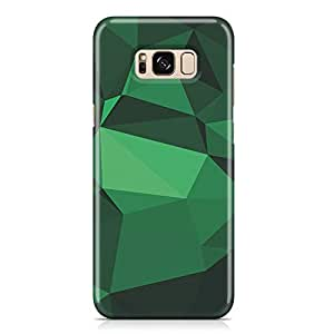 Samsung S8 Plus Case Shades of Green Geomaterical Pattern Metal Plate Light Weight Samsung S8 Plus Cover Wrap Around