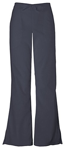 Cherokee Women's Adjustable Flare Leg Drawstring Pant_Pewter_Large - Leg Pant Drawstring Flare