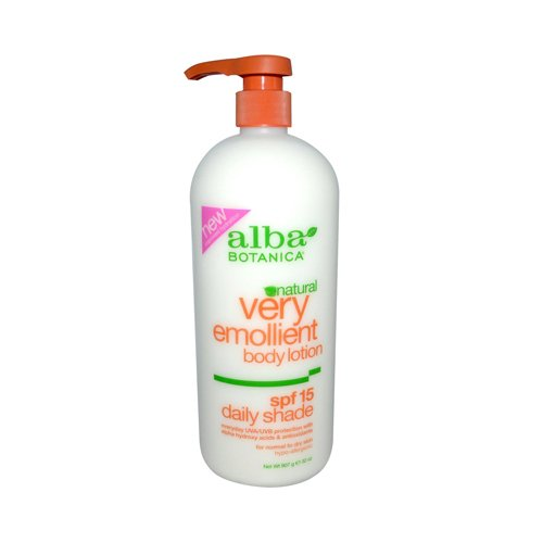 Body Botanica Lotion Lotion Emollient Alba Moisturizing Very (Alba Botanica - Alba Botanica Very Emollient Natural Body Lotion SPF 15-32 fl oz)