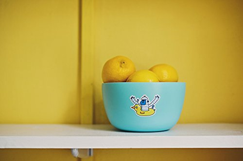 - Home Comforts Peel-n-Stick Poster of Lemon Fruit Blue Yellow Bowl Table Poster 24x16 Adhesive Sticker Poster Print