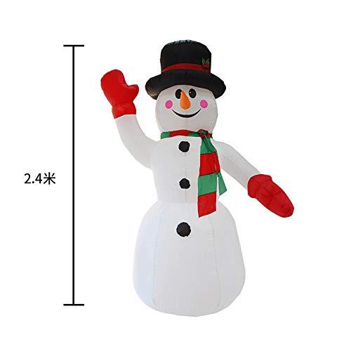 Amazon.com: YYZZ - Figura hinchable de muñeco de nieve ...