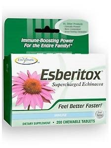 - Enzymatic Therapy - Esberitox Superchrgd Echinacea 200 Chewable Tablets (Pack of 3) by Enzymatic