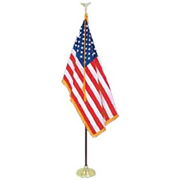 Amazon.com : 8\' Presidential Formal Indoor U.S. Flag Set with 8 ...
