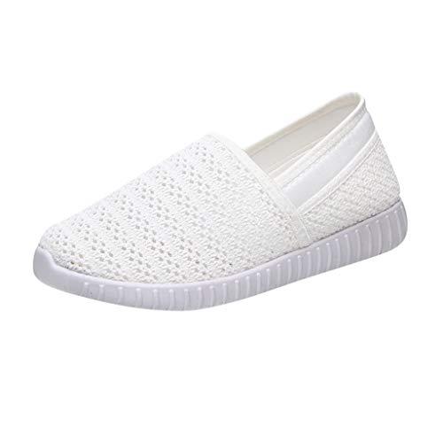 (SSYongxia❤ Women's Slip-On Sneaker - Outdoor Sport Shoes Classic Light Sneakers Casual Walking Shoes for Women White)