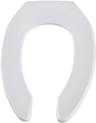 Bemis 1955CT 000 Commercial Plastic Open Front Toilet Seat with STA-TITE Commercial Fastening System, Elongated, White by - Sta Legend