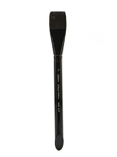Silver Brush 3008S-1 Black Velvet Short Handle Blend Squirrel and Risslon Brush, Square Wash, 1-Inch by Silver Brush Limited by Silver Brush Limited