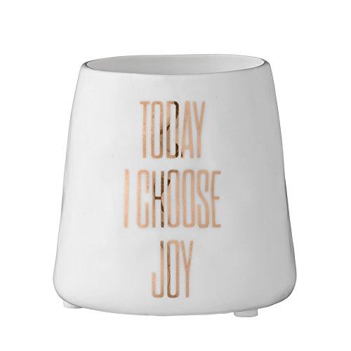 Bloomingville Today I Choose Joy Ceramic Votive Holder