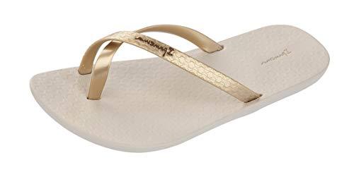 Ipanema Mix Kids Girls Flip Flops/Sandals-Beige-2/3 -