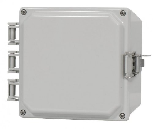 Junction Box Polyguard 8x8x4-JOSF Polycarbonate Enclosure Opaque Cover Mounting Feet