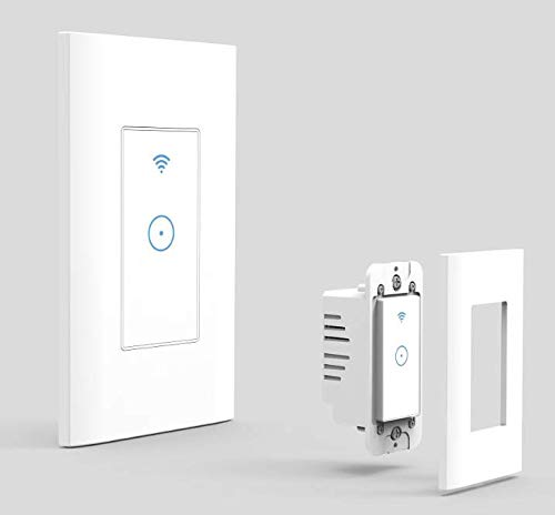 Smart WiFi Interruptor de pared naamasmart Touch Interruptor de luz Control remoto luces función de calendario con...